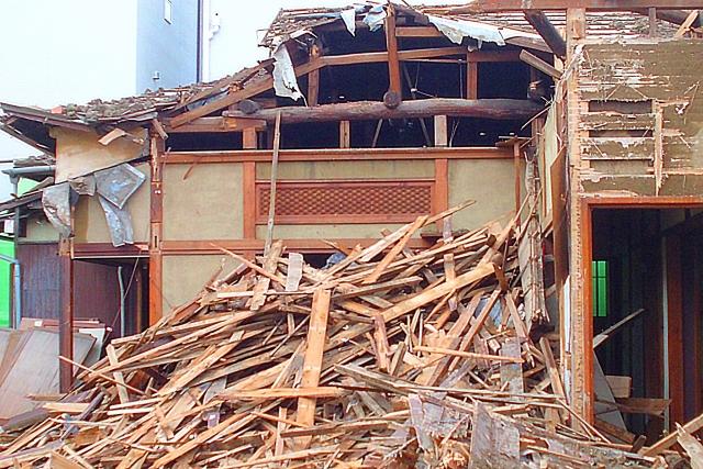 空き家の解体工事