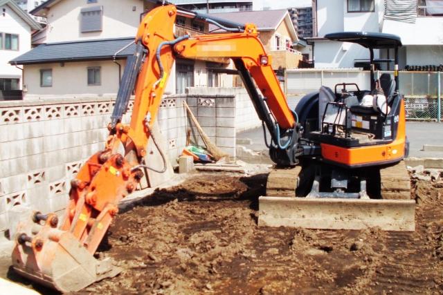 解体工事と付帯工事